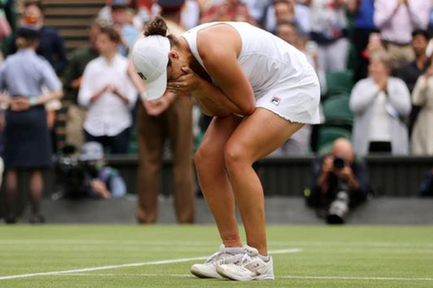 Barty wins her first Wimbledon title