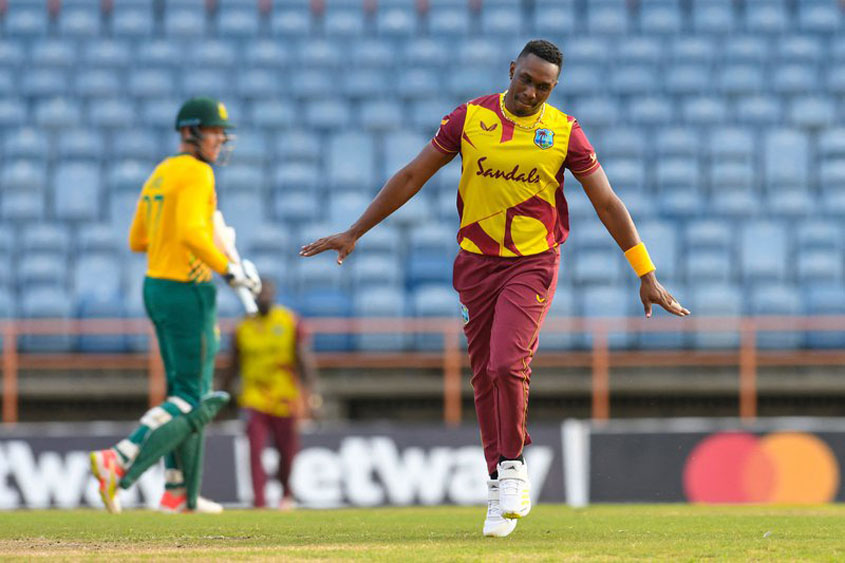Windies even series 2-2 with South Africa