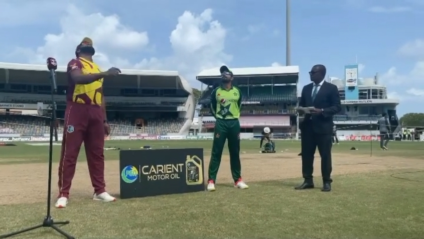 Pakistan win the toss, fielding vs Windies in first T20I