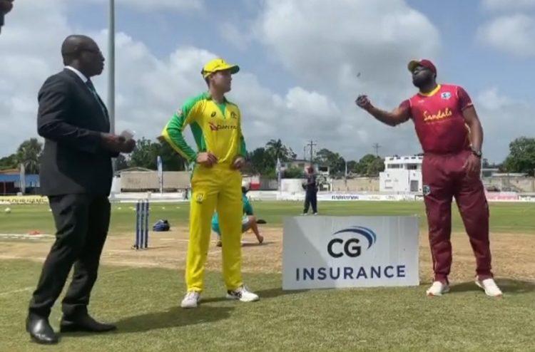Aussies win the toss, bat vs Windies – 1st ODI