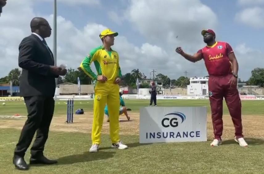 Aussies win the toss, batting vs Windies in second ODI