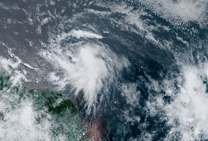 Elsa strengthens as it approaches Barbados