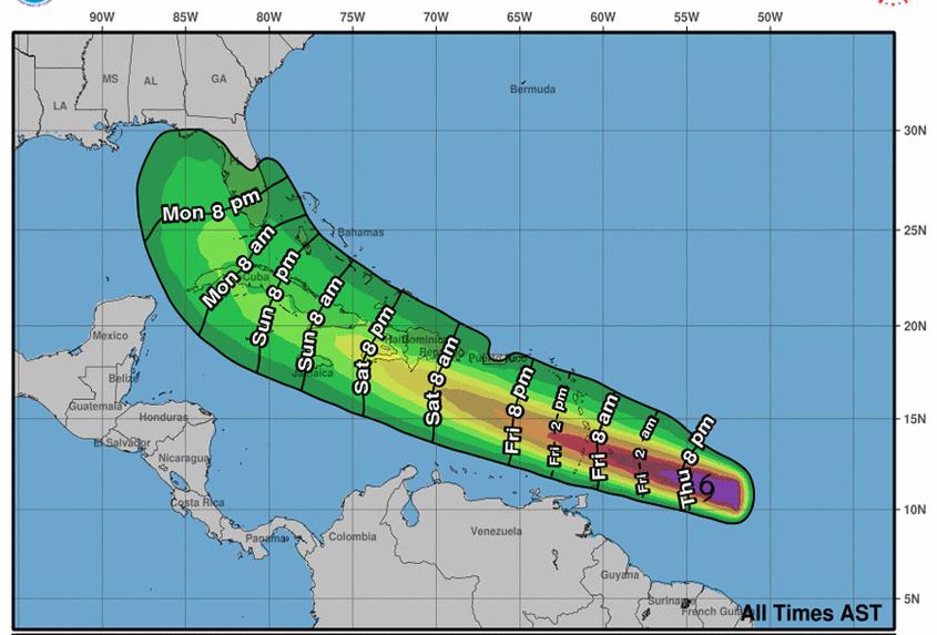 Tropical Storm Elsa evening update July 1, 2021