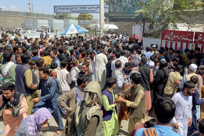 Chaos at Kabul airport