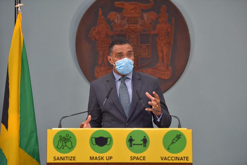 Jamaica's PM announces seven-day lockdown