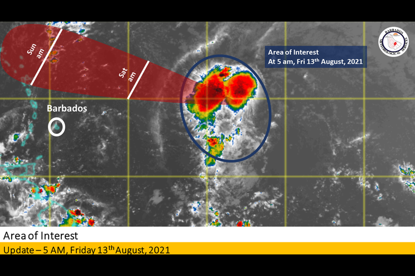 Met Office update: System expected to pass Barbados on Saturday afternoon