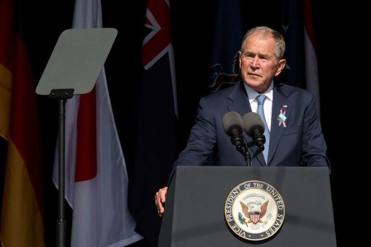 Bush warns of domestic terrorism on 9/11 anniversary