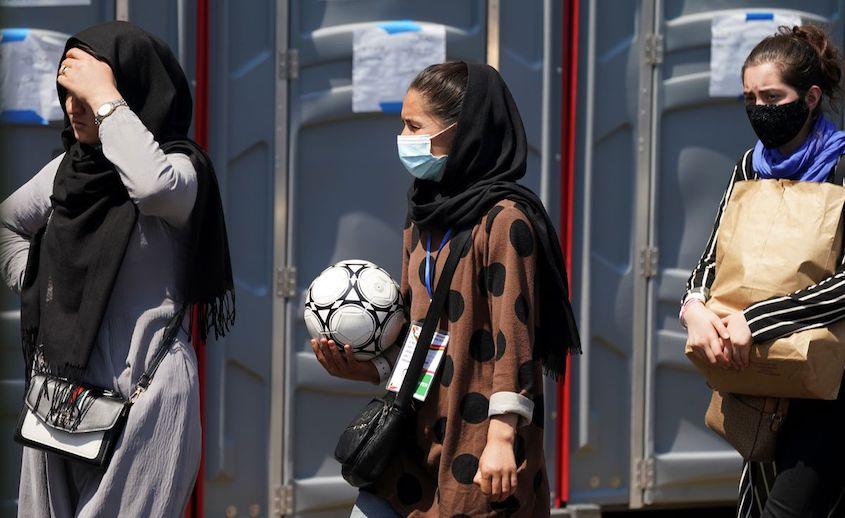 Afghan female footballers seeking asylum