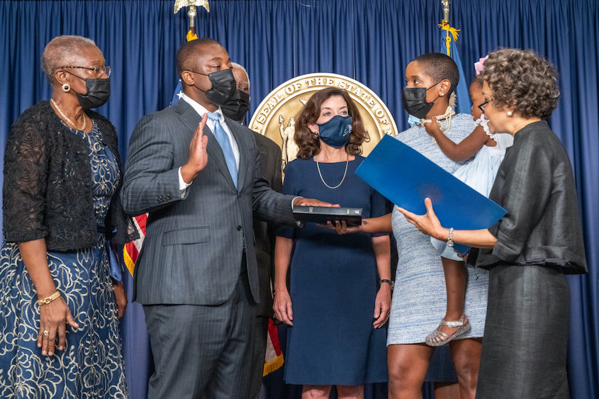 Caribbean American sworn in as New York Lieutenant Governor