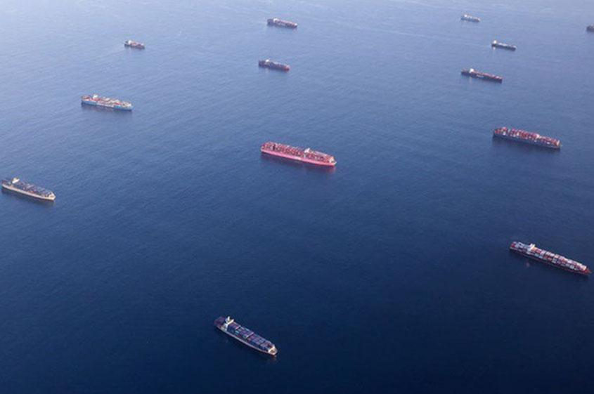 Backlog of cargo ships at California ports