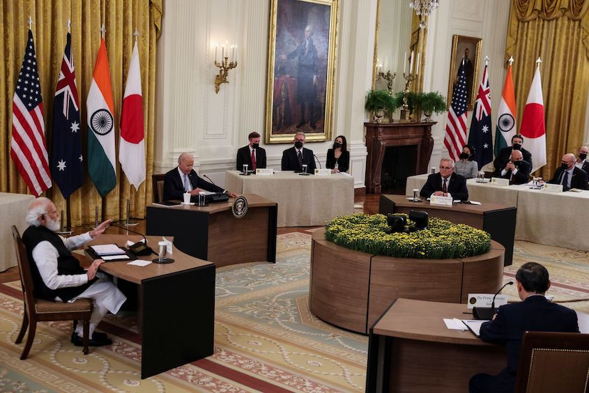 'Quad' leaders meet at White House