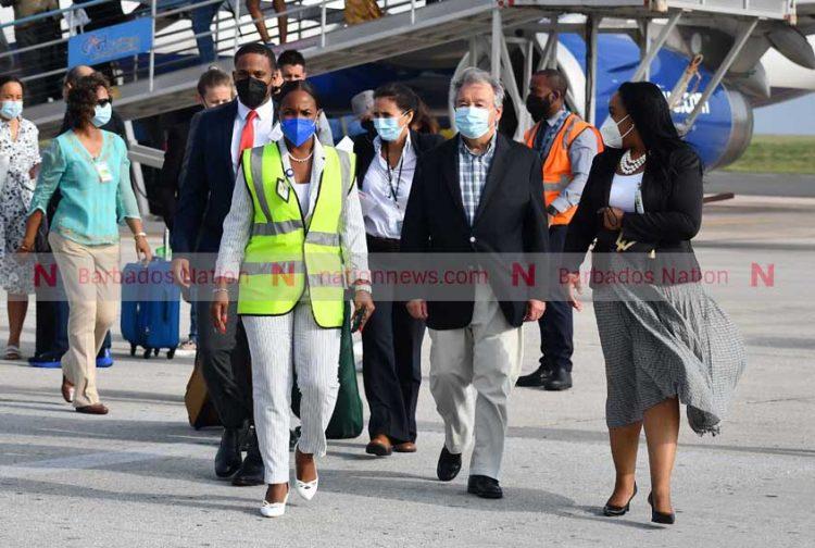 UN secretary general arrives for UNCTAD 15