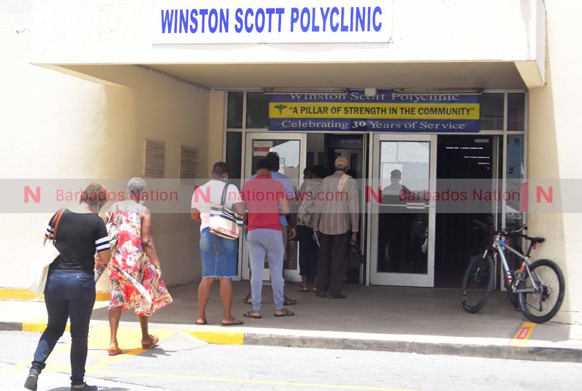 Nurse at Winston Scott polyclinic passes